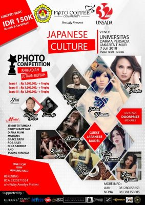 Photo Coffee Community & Universitas Darma Persada Gelar 'Japanese Culture Photo Competition' BEKASIMEDIA.COM   MEDIA BEKASI SEJAK 2014