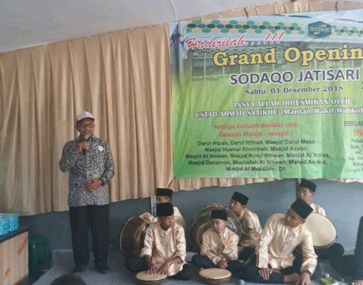Jelang Reuni 212, Ahmad Syaikhu Resmikan Minimarket Sodaqo Jatisari Jatiasih BEKASIMEDIA.COM  