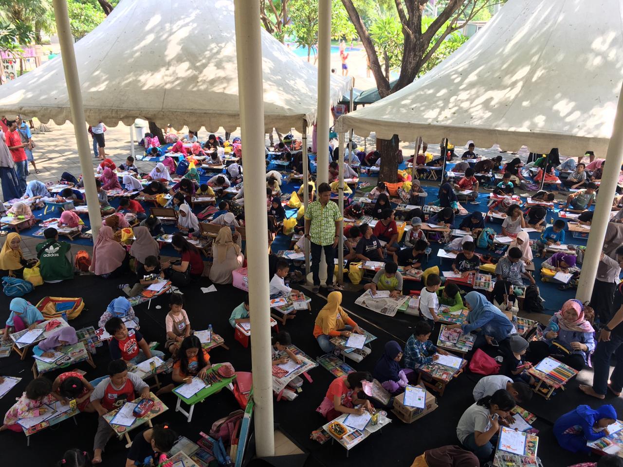 Hilo gelar HiLo School Drawing Competition tingkat bekasi di Go! Wet Waterpark Bekasi BEKASIMEDIA.COM