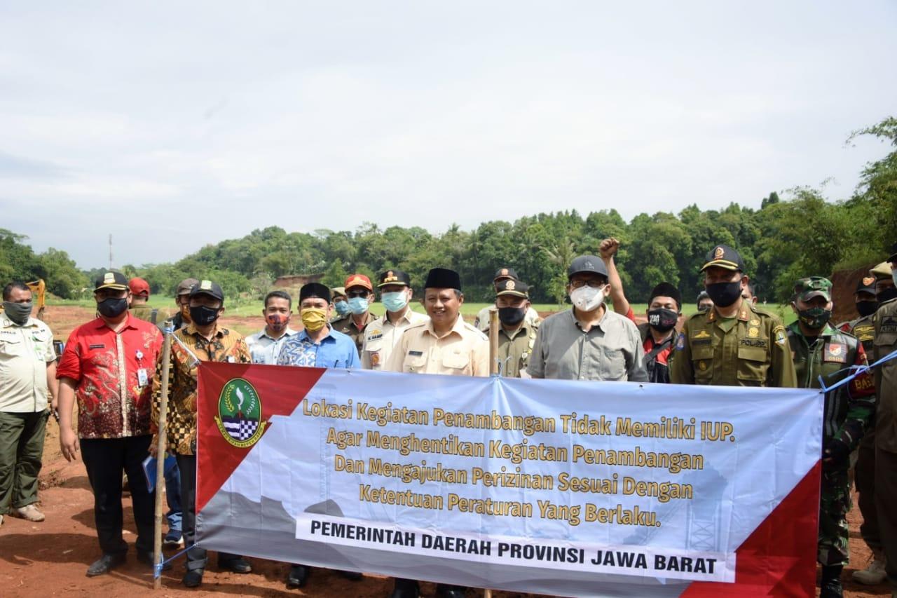 Wagub Jabar Tutup Galian Ilegal di Kabupaten Bekasi BEKASIMEDIA.COM |