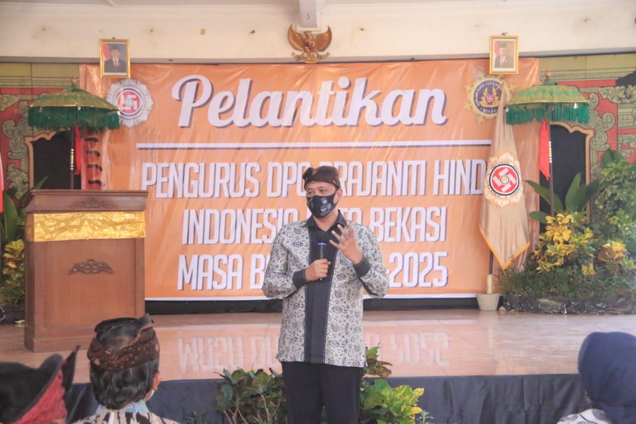Wakil Wali kota Bekasi Hadiri Pelantikan Pengurus DPC Prajaniti Hindu Pura Agung Tirta Buana BEKASIMEDIA.COM |