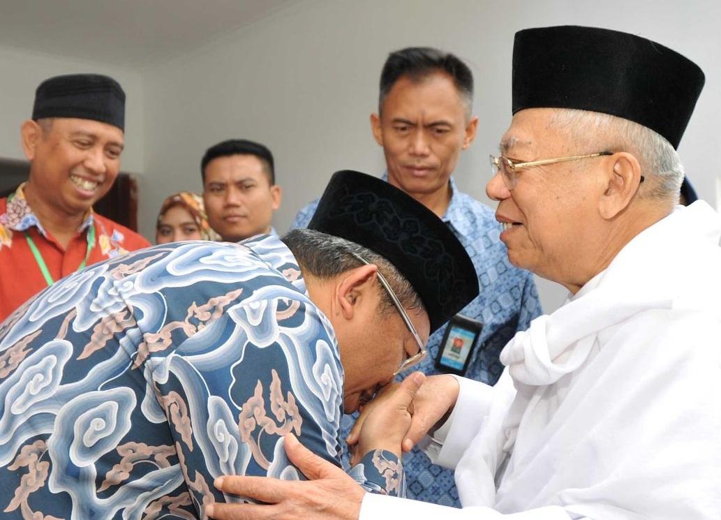 KH Maruf Amin Ajak Ahmad Heryawan Masuk Wantim MUI BEKASIMEDIA.COM  
