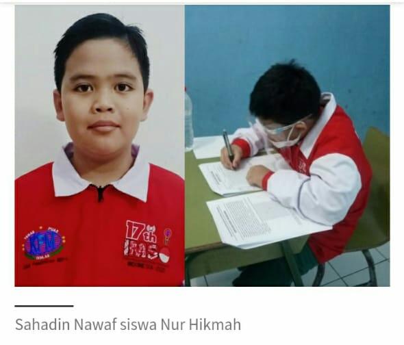 Nawaf, Siswa SD Kota Bekasi Juara Dunia Olimpiade Math & Sains IMSO 2021 BEKASIMEDIA.COM |