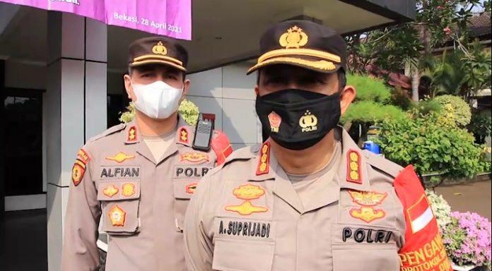 Polres Metro Bekasi Kota Lakukan Penyekatan Terkait Larangan Mudik 2021 BEKASIMEDIA.COM  