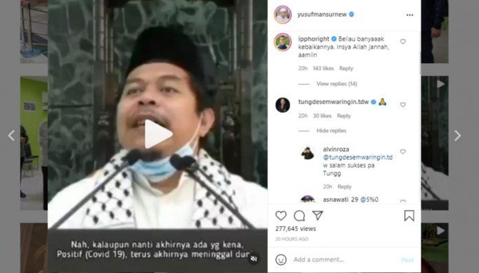 Yusuf Mansur Unggah Video Viral Pesan Kematian Ustaz Lutfi Fathullah BEKASIMEDIA.COM  