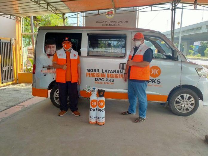Heri Koswara Launching Mobil Antar Oksigen BEKASIMEDIA.COM  