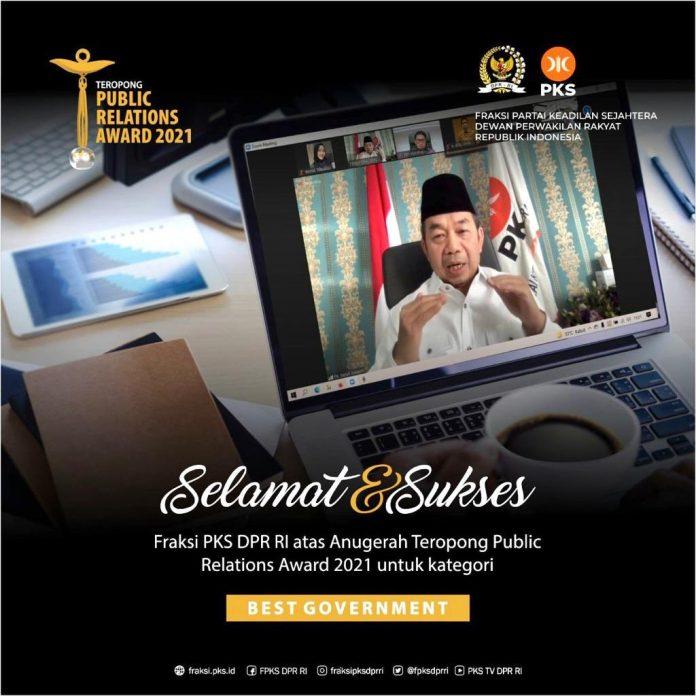 Fraksi PKS DPR RI Raih Penghargaan TPR Award, Heri Koswara: Kita Turut Senang dan Bangga BEKASIMEDIA.COM |
